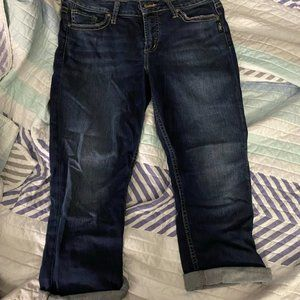 Silver Jeans Co Elyse Cropped Jeans